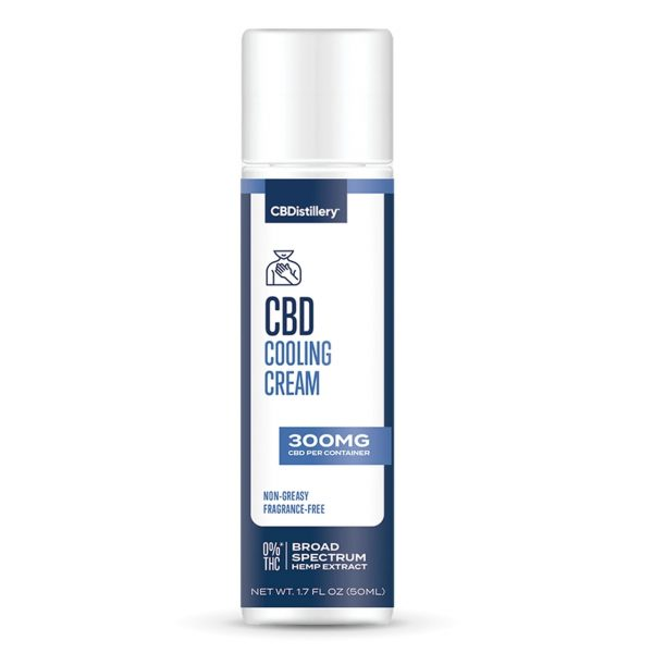 CBDistillery, CBD Cooling Cream, Broad Spectrum THC-Free, 300mg of CBD