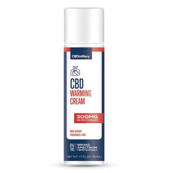 CBDistillery, CBD Warming Cream, Broad Spectrum THC-Free, 300mg of CBD
