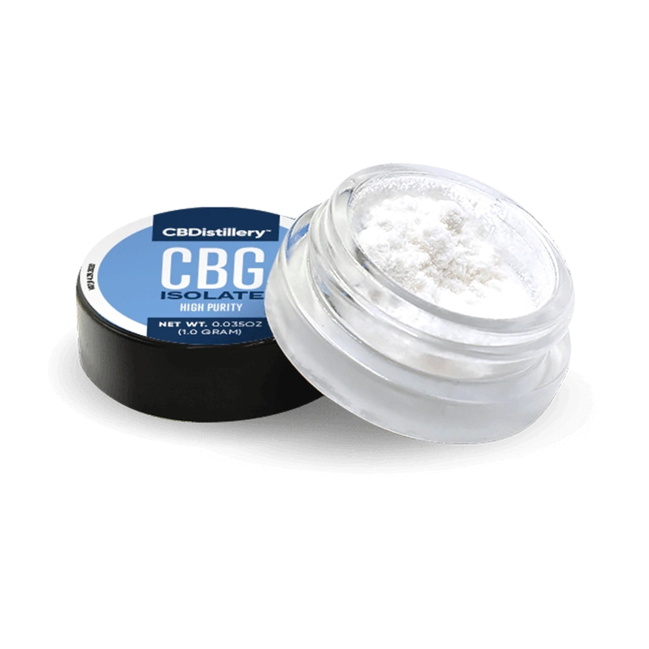 CBDistillery, CBG Isolate High Purity Powder, 1g, 970mg of CBG