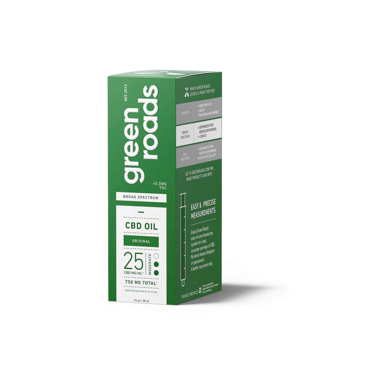 Green Roads, CBD Oil, Broad Spectrum THC-Free, Natural Flavor, 1oz, 25MG:ML, 750mg of CBD2