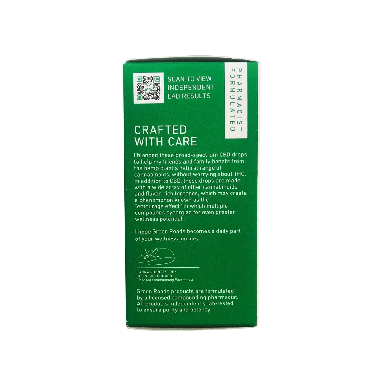 Green Roads, CBD Oil, Broad Spectrum THC-Free, Natural Flavor, 1oz, 25MG:ML, 750mg of CBD6