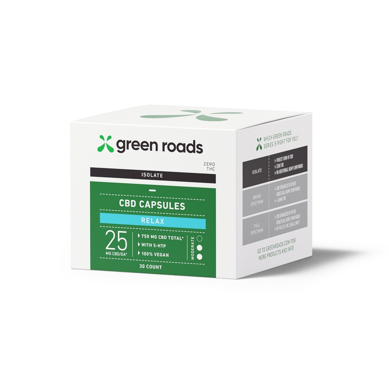 Green Roads, CBD Relax Capsules, Isolate THC-Free, 30-Count, 750mg of CBD3