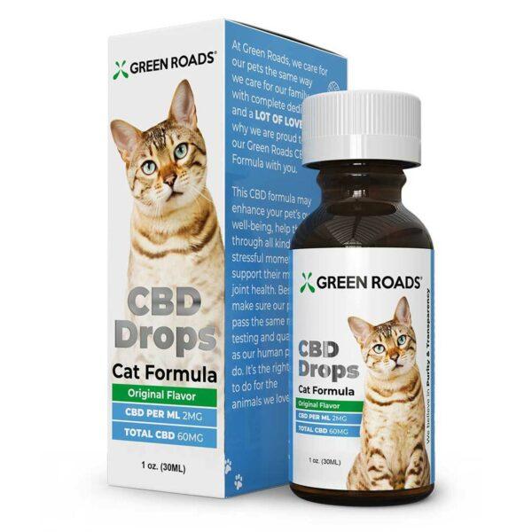 Green Roads, Pet CBD Oil Drops Cat, Broad Spectrum THC-Free, 1oz, 60mg of CBD