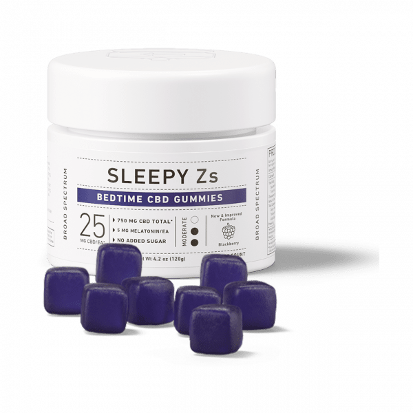 Green Roads, Sleepy Zs CBD Gummies with Melatonin, Broad Spectrum THC-Free, 30ct, 750mg CBD