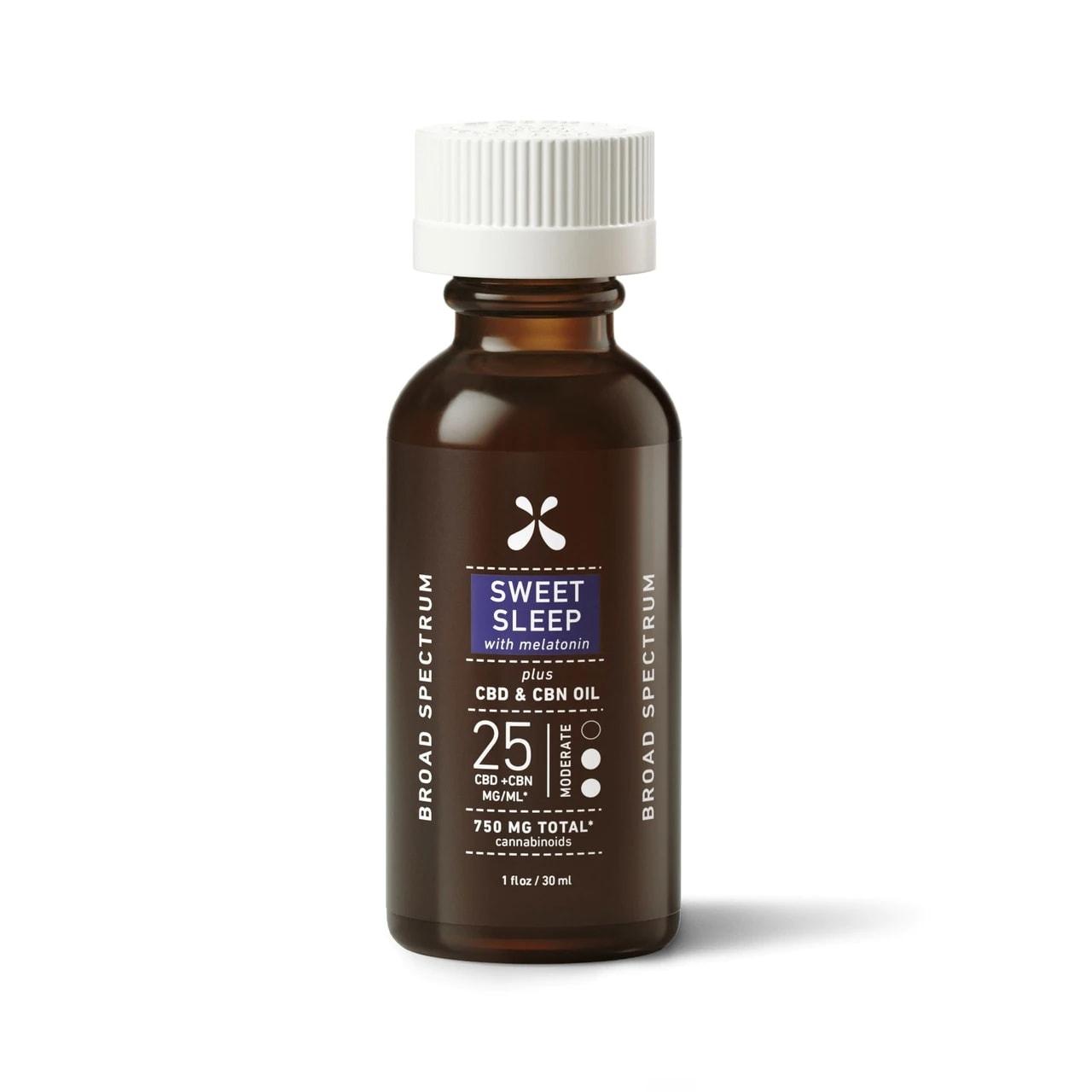Green Roads, Sweet Sleep CBD+CBN Oil, Broad Spectrum THC-Free, 1oz, 25MG:ML, 750mg of CBD