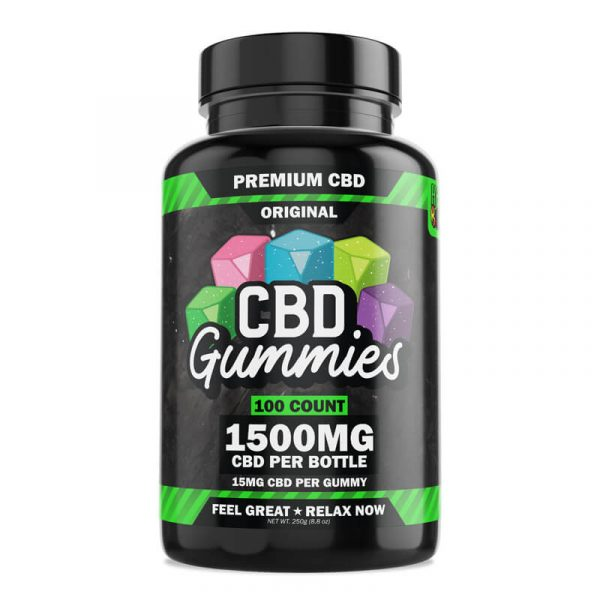 Hemp Bombs, CBD Gummies, 100-Count, 1500mg of CBD