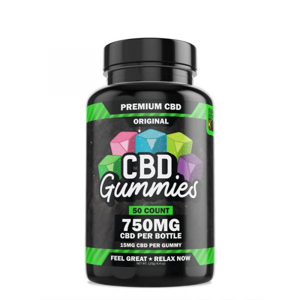Hemp Bombs, CBD Gummies, 50-Count, 750mg of CBD