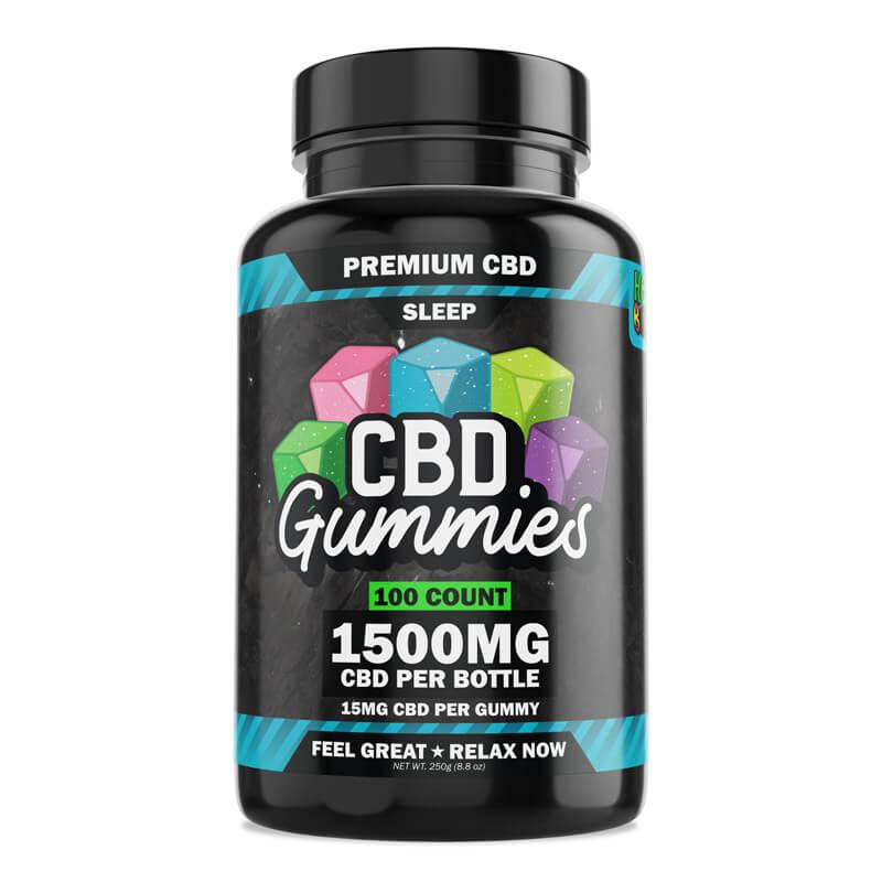 Hemp Bombs, CBD Sleep Gummies with Melatonin, 100-Count, 1500mg of CBD