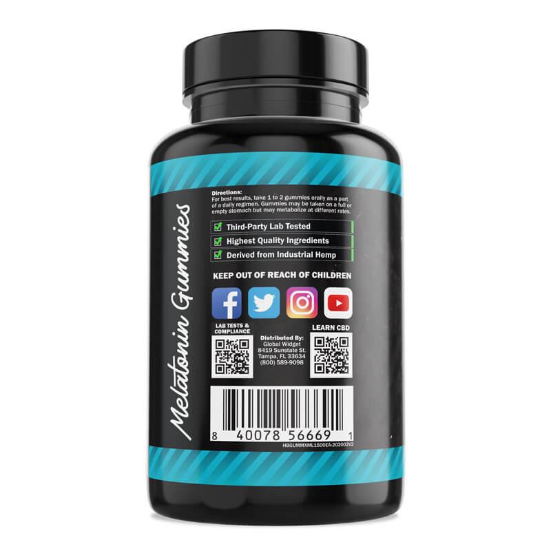 Hemp Bombs, CBD Sleep Gummies with Melatonin, 100-Count, 1500mg of CBD3