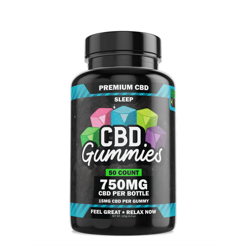 Hemp Bombs, CBD Sleep Gummies with Melatonin, 50-Count, 750mg of CBD