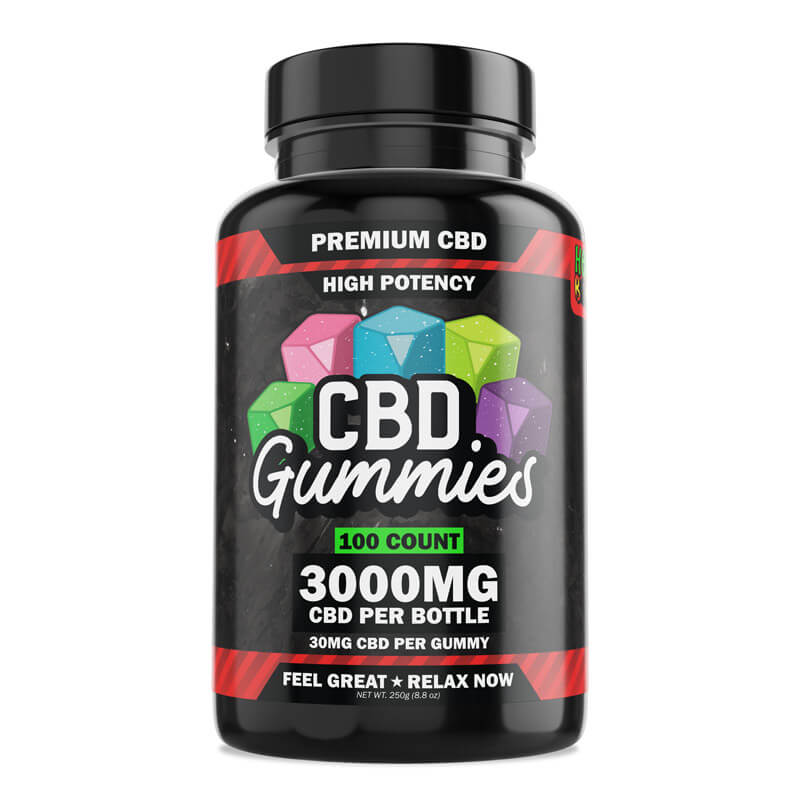 Hemp Bombs, High Potency CBD Gummies, 100-Count, 3000mg of CBD