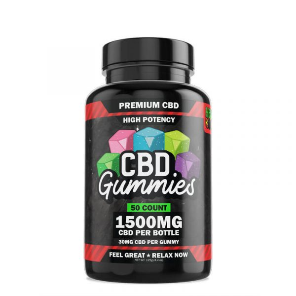 Hemp Bombs, High Potency CBD Gummies, 50-Count, 1500mg of CBD