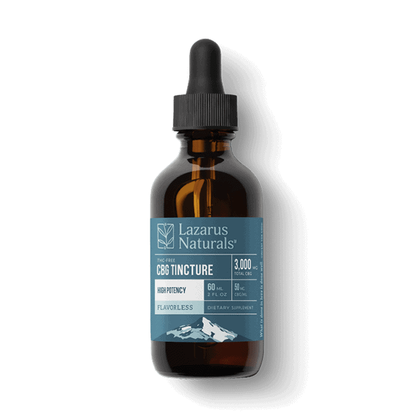 Lazarus Naturals, Flavorless High Potency CBG Isolate Tincture, 2oz, 3000mg of CBG