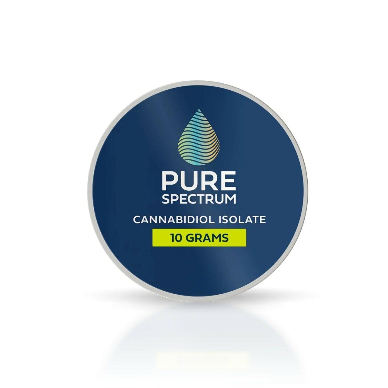 Pure Spectrum, 99% CBD Isolate Powder, 10g, 10000mg of CBD