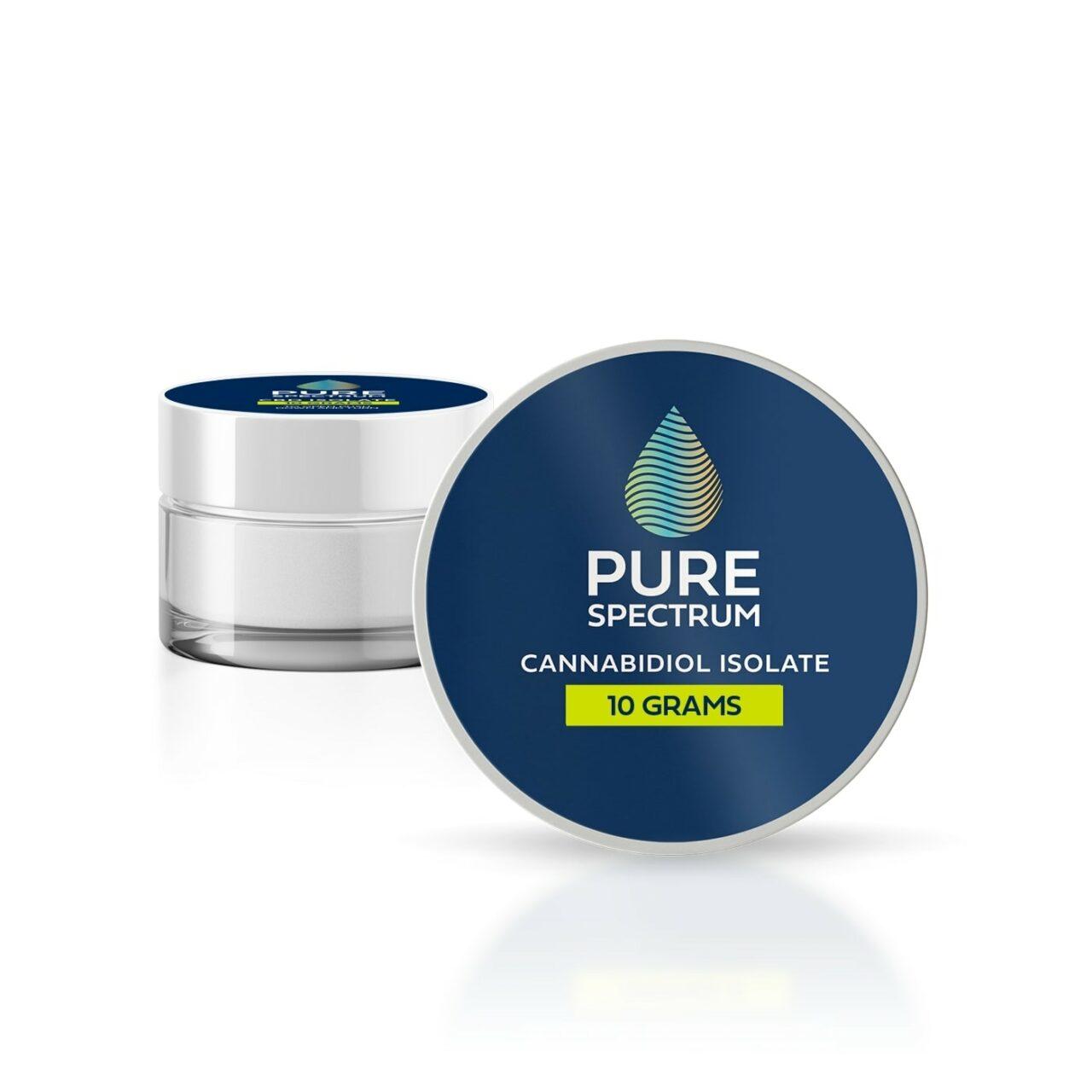 Pure Spectrum, 99% CBD Isolate Powder, 10g, 10000mg of CBD2