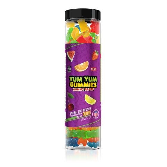 Yum Yum Gummies, CBD Gummy Bears, Fruit Mix, Full Spectrum, 500mg of CBD