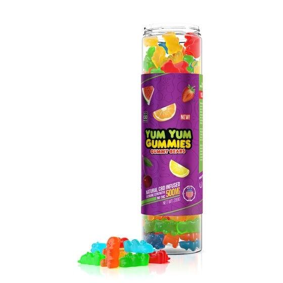 Yum Yum Gummies, CBD Gummy Bears, Fruit Mix, Full Spectrum, 500mg of CBD2