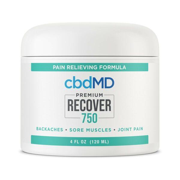cbdMD, CCBD Recover Tub, Broad Spectrum THC-Free, 4oz, 750mg of CBD