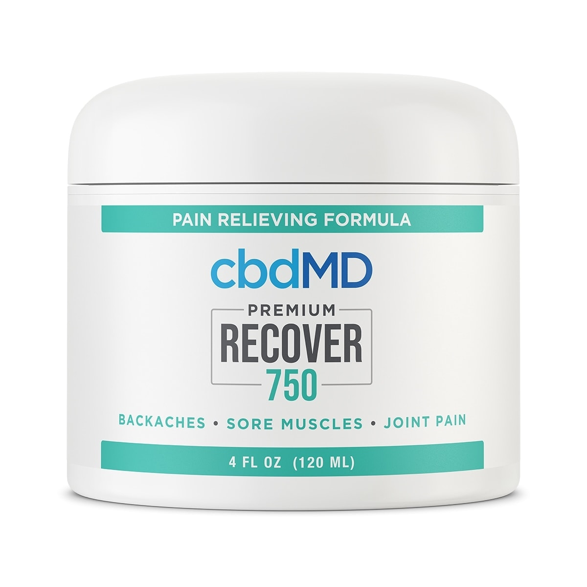 cbdMD, CCBD Recover Tub, Broad Spectrum THC-Free, 4oz, 750mg of CBD