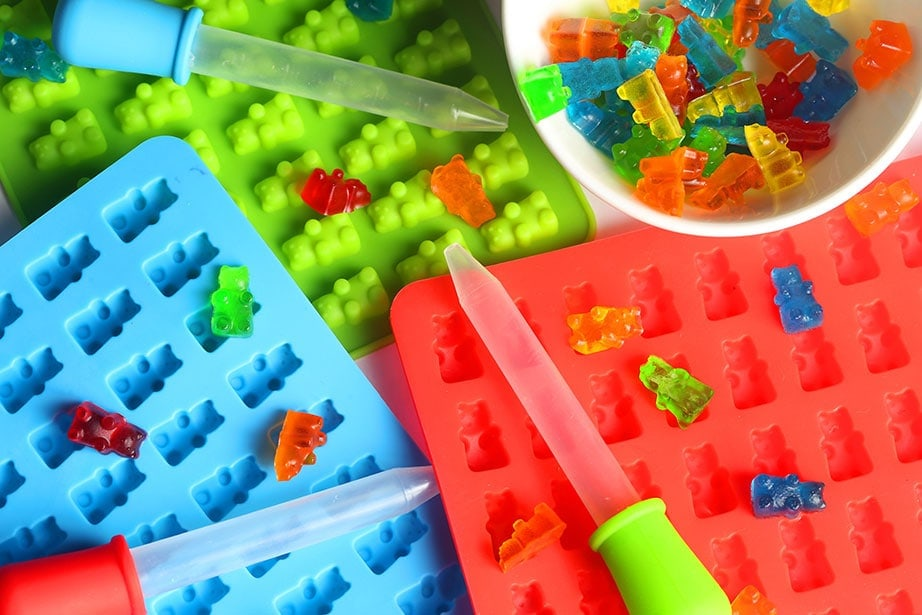 Food-grade silicone molds to shape your gummies