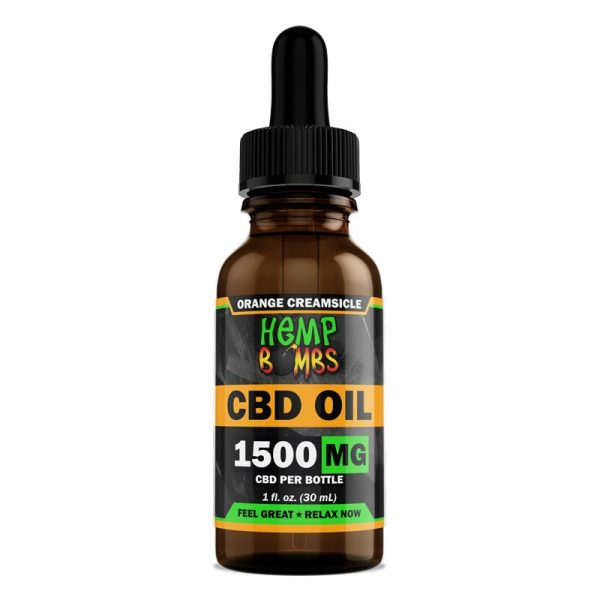 Hemp Bombs, CBD Oil, Full Spectrum, Orange Creamsicle, 1oz, 1500mg of CBD