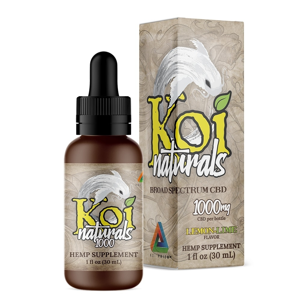 Koi CBD, CBD Oil Tincture, Full Spectrum, Lemon-Lime, 30ml, 1000mg of CBD