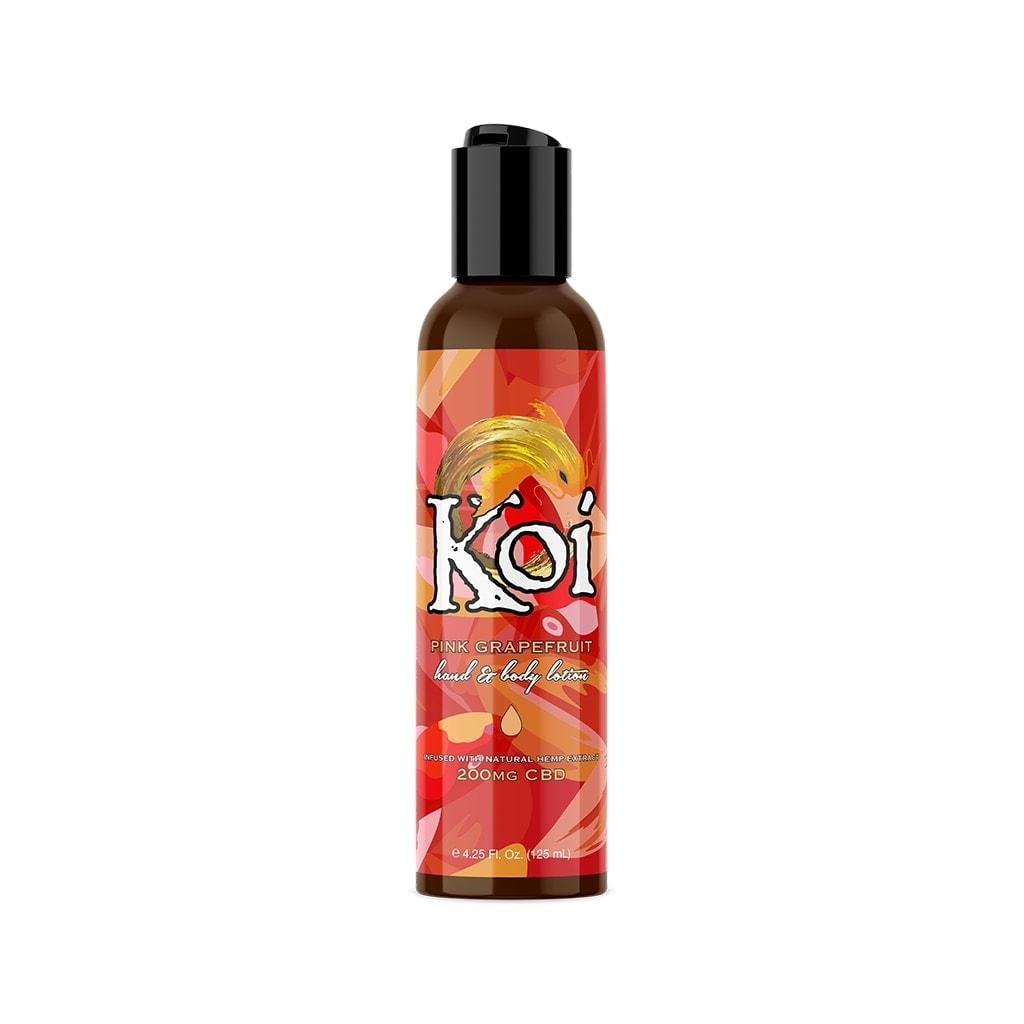 Koi, Hemp Extract CBD Lotion, Pink Grapefruit, Full Spectrum, 4.25oz, 200mg of CBD
