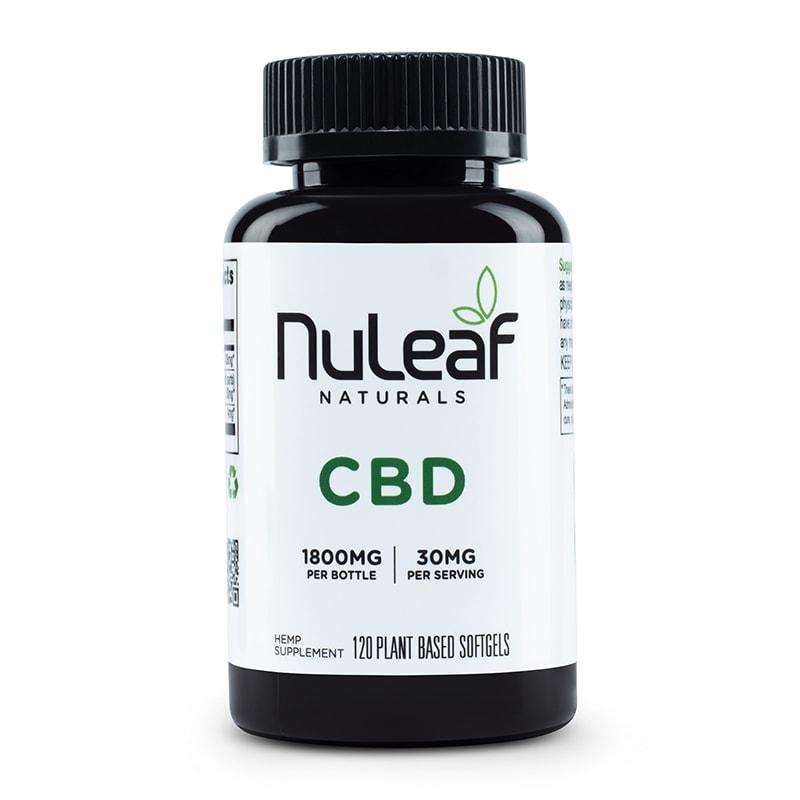 NuLeaf Naturals, Hemp CBD Capsules, Full Spectrum, 120 Softgels, 1800mg CBD 1