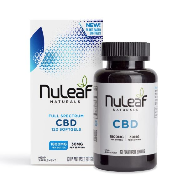 NuLeaf Naturals, Hemp CBD Capsules, Full Spectrum, 120 Softgels, 1800mg of CBD