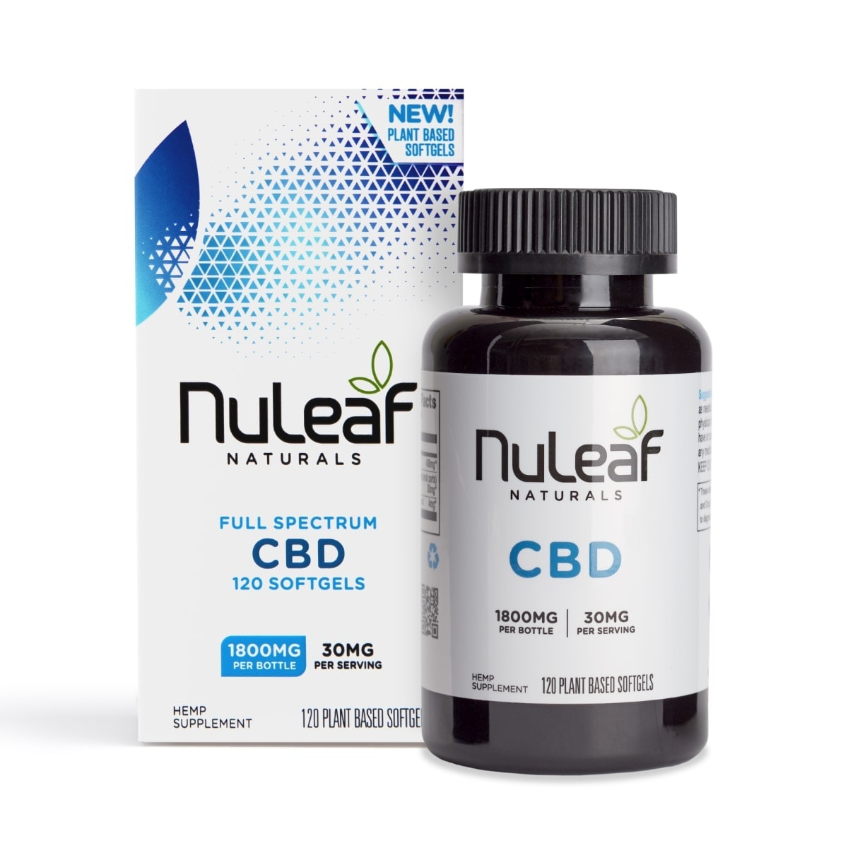 NuLeaf Naturals, Hemp CBD Capsules, Full Spectrum, 120 Softgels, 1800mg of CBD2