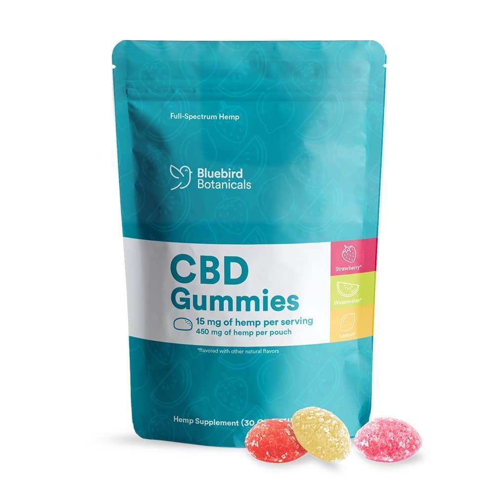 Bluebird Botanicals, CBD Gummies, Fruit Mix, Full Spectrum, 450mg of CBD