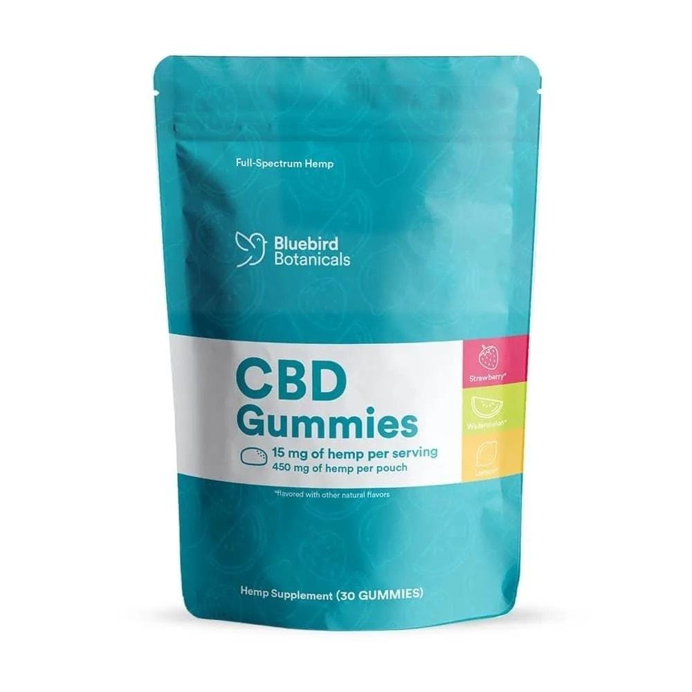 Bluebird Botanicals, CBD Gummies, Fruit Mix, Full Spectrum, 450mg of CBD3