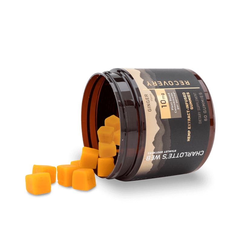 Charlotte's Web, CBD Gummies- Recovery, Full Spectrum, Ginger, 1oz, 300mg of CBD2