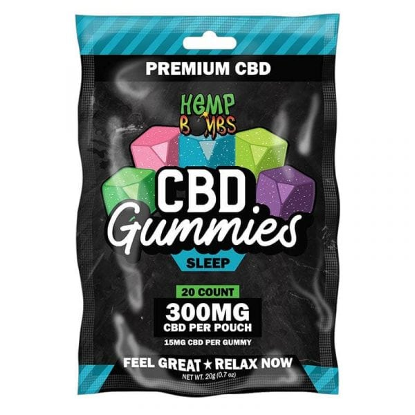 Hemp Bombs, CBD Sleep Gummies with Melatonin, 20-Count, 300mg of CBD