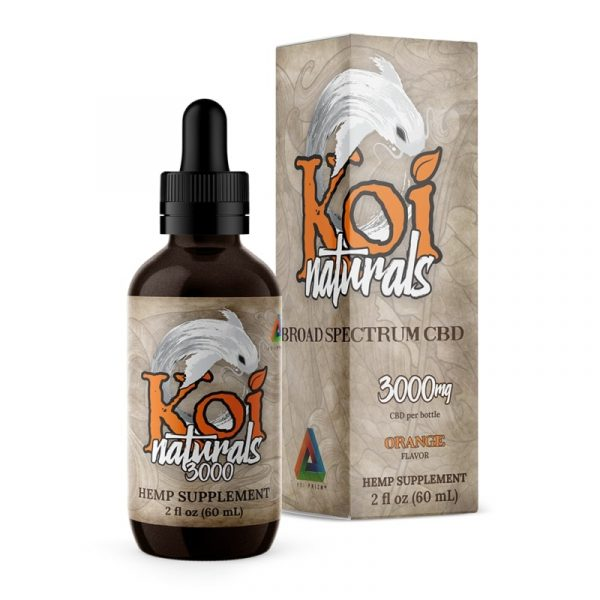 Koi CBD, CBD Oil Tincture, Broad Spectrum, Orange, 60ml, 3000mg of CBD
