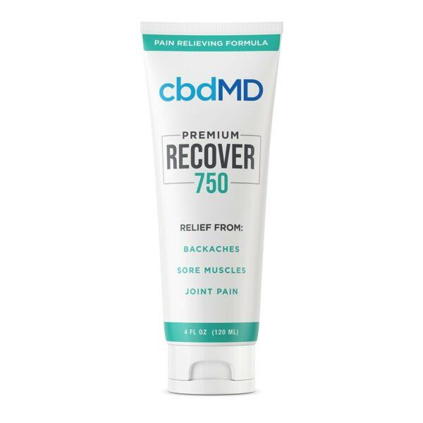 cbdMD, CBD Recover Squeeze, Broad Spectrum THC-Free, 4oz, 750mg of CBD
