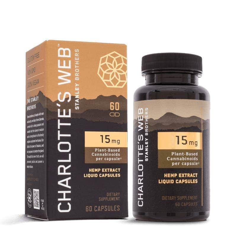 Charlotte's Web, 15mg CBD Oil Liquid Capsules, Full Spectrum, 60ct, 900mg of CBD