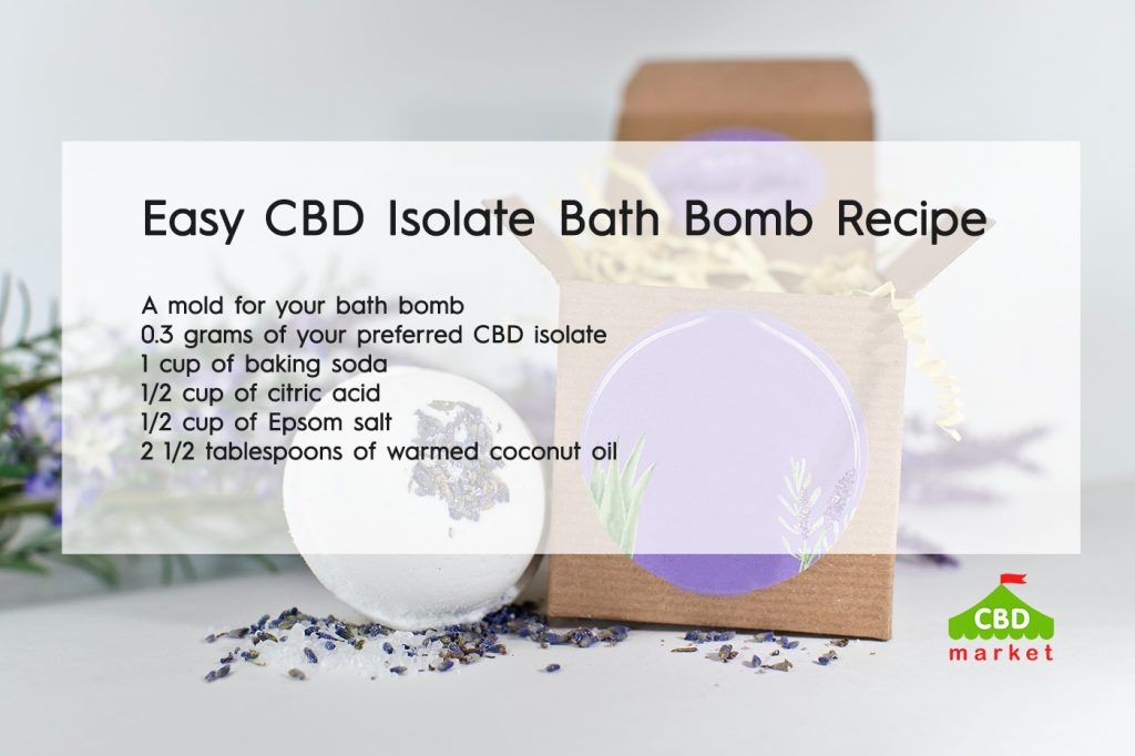 Easy CBD Isolate Bath bomb Recipe