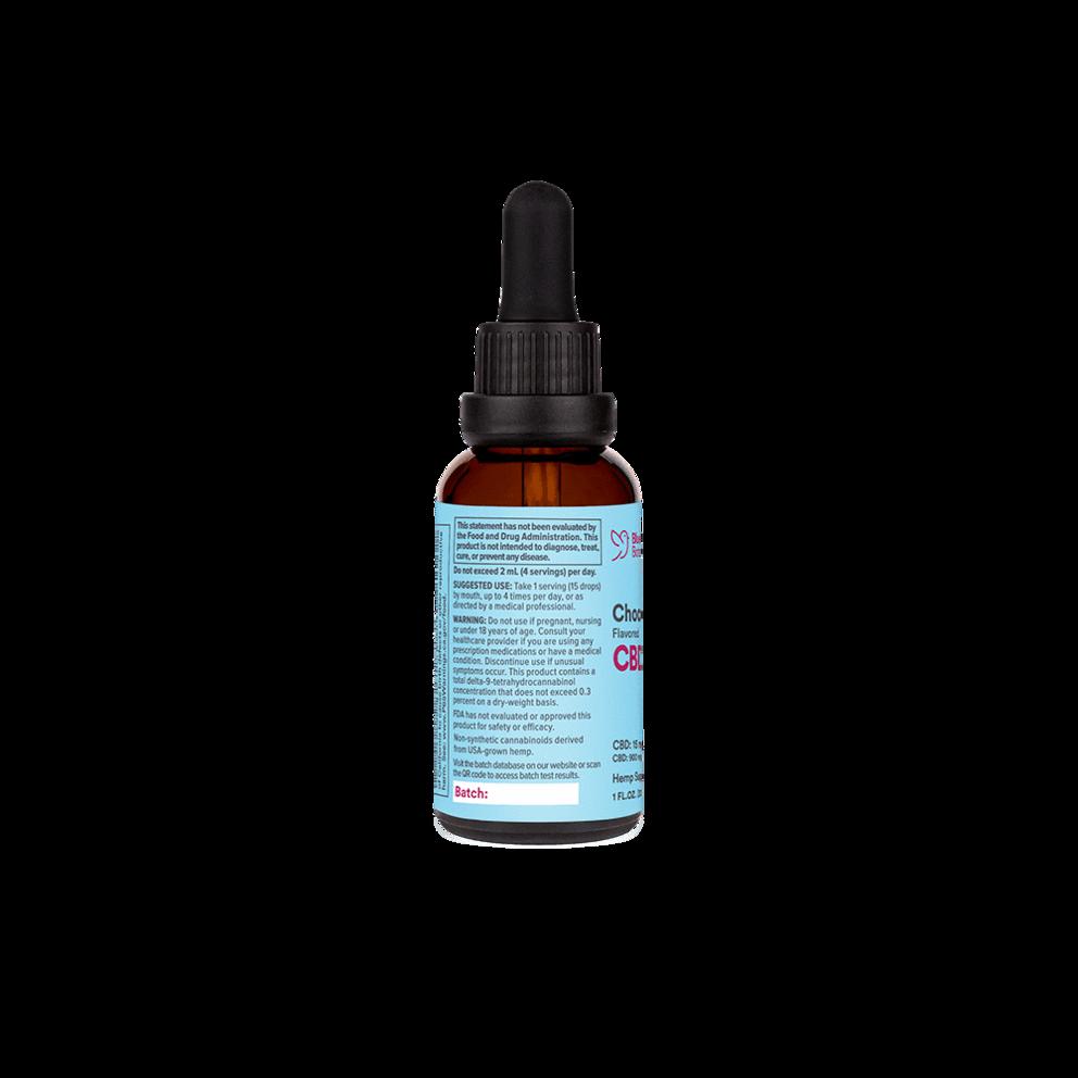 Bluebird Botanicals, Chocolate Flavored CBD Oil, Full Spectrum, 1oz, 900mg CBD3