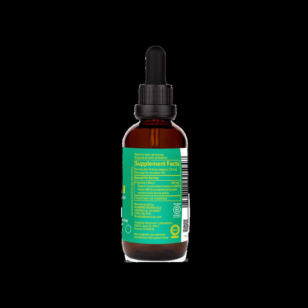 Bluebird Botanicals, Extra Strength THC Free CBD Oil, Isolate, Natural Flavor, 2oz, 3000mg CBD 3
