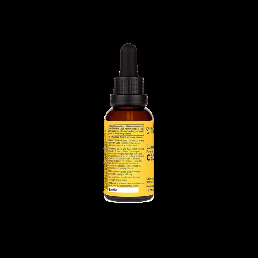 Bluebird Botanicals, Lemon Ginger Flavored CBD Oil, Full Spectrum, 1oz, 900mg CBD2