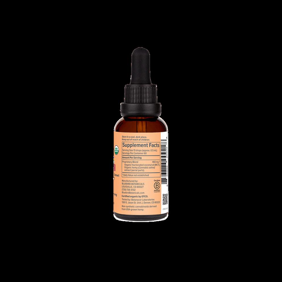 Bluebird Botanicals, Organic CBD Oil, Full Spectrum, 1oz, 900mg CBD 3