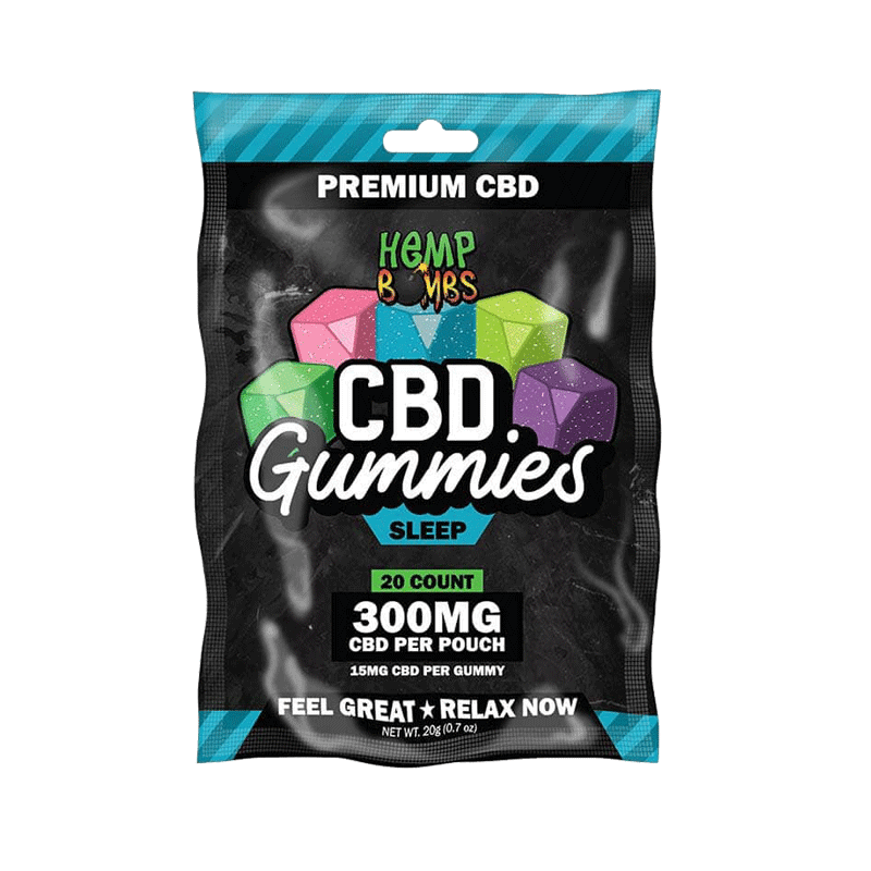 Hemp Bombs CBD Sleep Gummies with Melatonin, 20 Counts