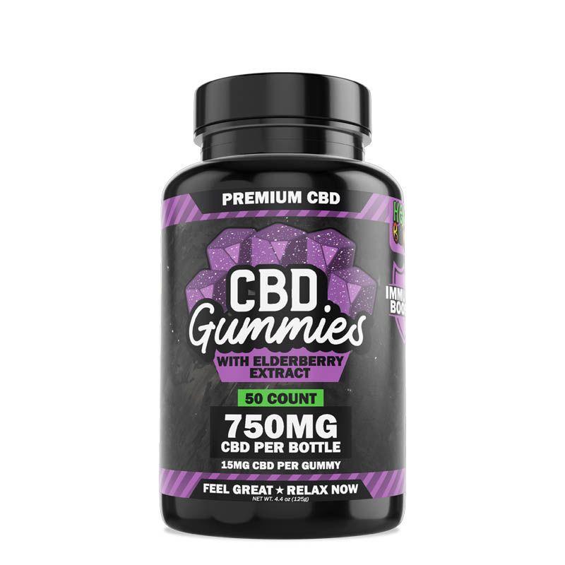 Hemp Bombs, Immunity CBD Gummies, 50-Count, 750mg of CBD 1