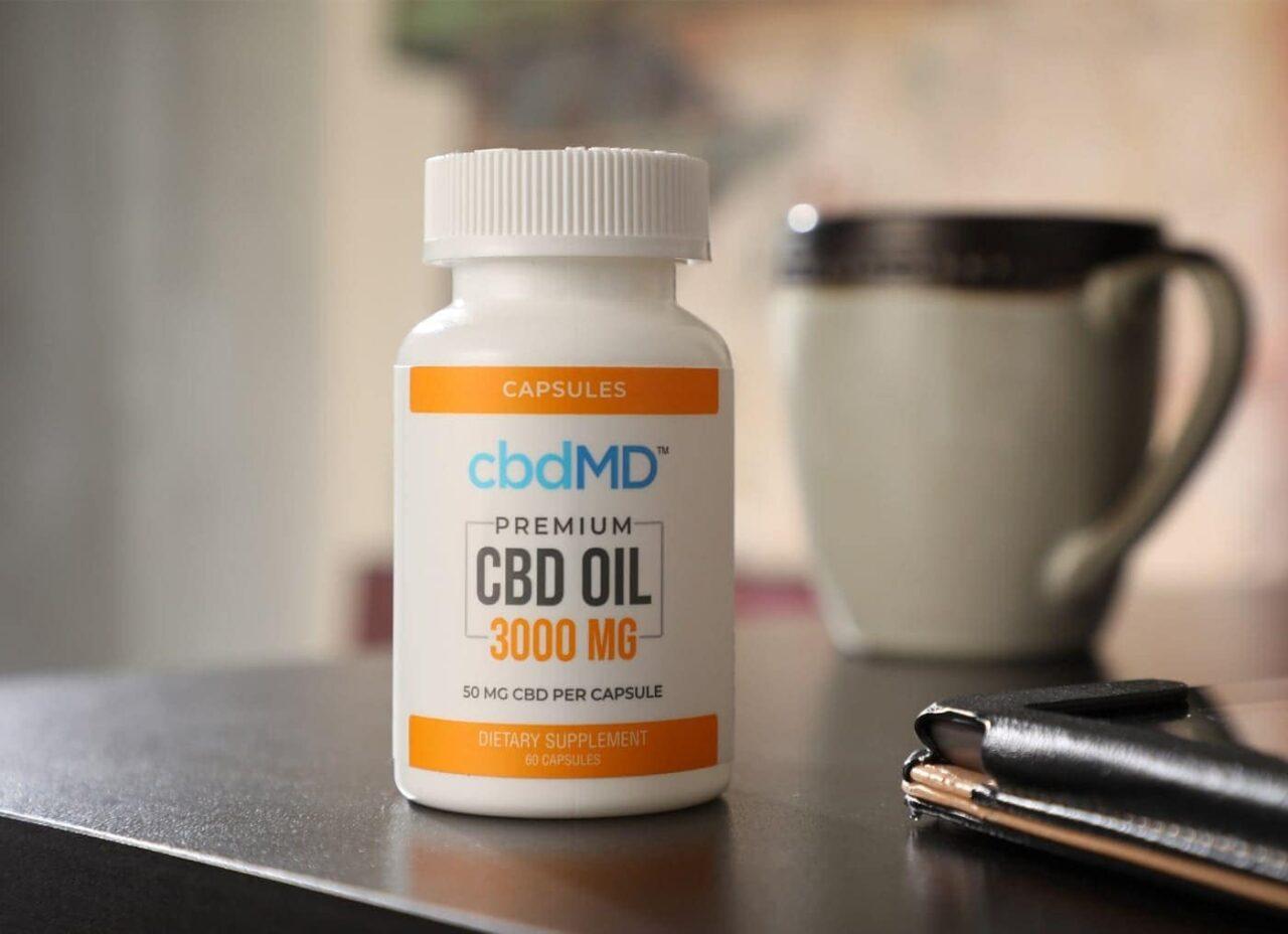 cbdMD, CBD Oil Capsules, Broad Spectrum THC-Free, 60-Count, 3000mg of CBD 2