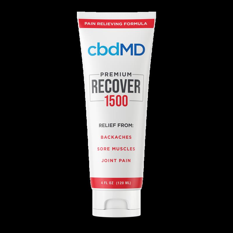 cbdMD, CBD Recover Squeeze, Broad Spectrum THC-Free, 4oz, 1500mg CBD 1