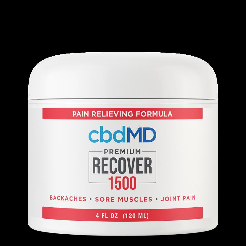 cbdMD, CBD Recover Tub, Broad Spectrum THC-Free, 4oz, 1500mg CBD 1