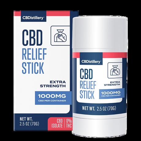 CBDistillery, CBD Relief Stick, Isolate THC-Free, 1000mg CBD 1