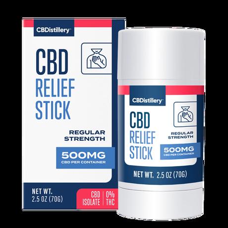 CBDistillery, CBD Relief Stick, Isolate THC-Free, 500mg CBD 1