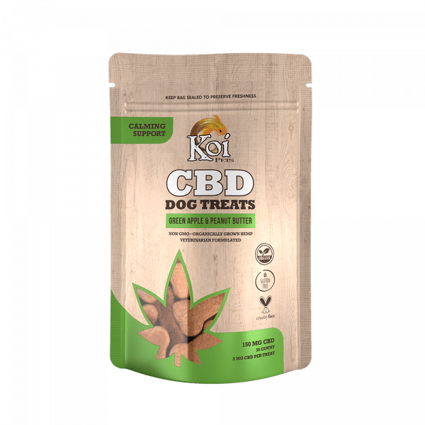 Koi Pets, CBD Dog Treats Calming Support, Full Spectrum, Apple Peanut, 30ct, 150mg CBD